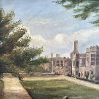 Antique Oil Painting Study of Haddon Hall Derbyshire Signed A E Richmond 1882 (5 of 9)