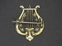 Antique Gold Military Musicians Badge (2 of 4)