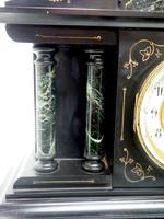 Fine Slate & Marble Mantel Clock 8 Day Striking Mantle Clock (3 of 9)