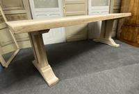 Large Bleached Oak French Farmhouse Dining Table (17 of 23)