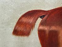 Victorian Oil Painting Chestnut Horse Portrait In Stable Signed Edwin Loder (24 of 42)