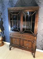 Oak Twist Leg Bookcase (4 of 13)