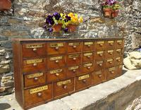 Charming Set of Antique Apothecary Drawers (3 of 10)