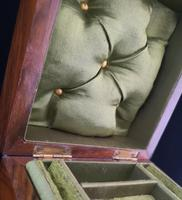 Antique Victorian walnut jewellery box, fitted (9 of 9)