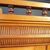 Large Edwardian Pine Chinoiserie Style Dresser (12 of 16)
