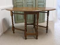 Good Solid Oak Victorian Gateleg Table (3 of 7)