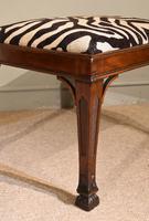 Late Georgian Mahogany Carved Stool (2 of 4)