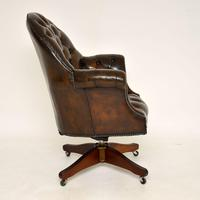 Antique Victorian Style Leather Swivel Desk Chair (9 of 12)