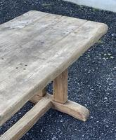 Large French Rustic Bleached Oak Farmhouse Dining Table (28 of 36)