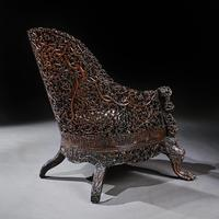 Exceptional 19th Century Anglo Indian Carved Teak Armchair (8 of 9)