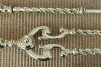 Quality Victorian Brass Fire Irons Companion Set Tongs Poker Shovel c.1895 (7 of 9)