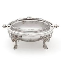 Victorian Silver Plated Revolving Lid Butter Dish with Frosted Glass Liner (2 of 5)