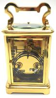 Large Classic Antique French 8-day Gong Striking Repeating Carriage Clock c.1880 (7 of 10)