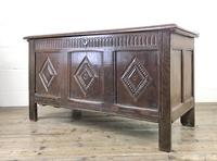 Antique 18th Century Oak Coffer With Carved Front (16 of 16)