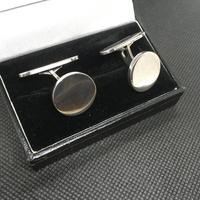 Danish Silver Cufflinks. 1950s by Eiler & Marloe