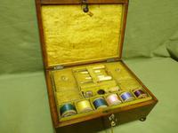 Regency Rosewood Jewellery / Sewing Box - Original Tray + Accessories c.1820 (3 of 15)