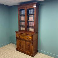 Superb Quality Victorian Mahogany Antique Glazed Secretaire Bookcase On Cupboard (2 of 8)