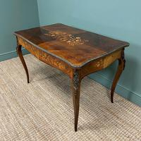 Stunning Large 19th Century Kingwood Antique Writing Table (5 of 8)