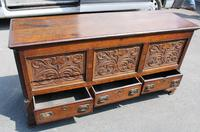 1900's Oak 3 Drawer Mule Chest of Drawers (3 of 5)