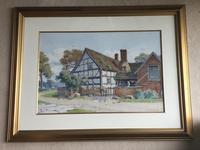 John McDougal Watercolour 'A Worcestershire Farm House' (2 of 2)