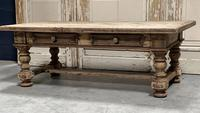 Rustic French Bleached Oak Coffee Table with 2 Drawers (4 of 19)
