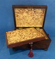 Regency Sarcophagus Rosewood Jewellery Box (13 of 15)