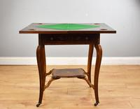 Victorian Rosewood Envelope Card Table (7 of 12)