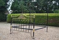 Antique King Size 5ft Half Tester Bedstead by R W Winfield. Bed Restored in your Colour (12 of 19)
