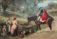 19thC English School - Horse & Hound Country landscape Oil Painting (10 of 11)