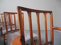 Antique Set of 8 George III Mahogany Dining Chairs (8 of 11)