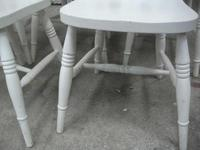 Set of 6 White Fiddle Back Kitchen Chairs (3 of 3)