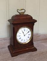 Small Mahogany 18th Century Style Bracket Clock (3 of 11)