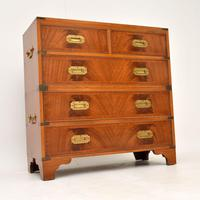 Antique Mahogany  Military Campaign Chest of Drawers (11 of 11)