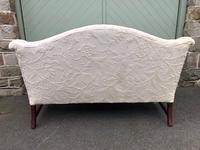 English Upholstered Camel Back Sofa (8 of 8)