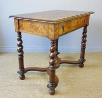 Good Dutch Marquetry Walnut & Kingwood Inlaid Table (9 of 11)