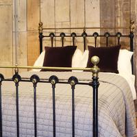 Late Victorian Cast Iron Antique Bed in Black (2 of 8)