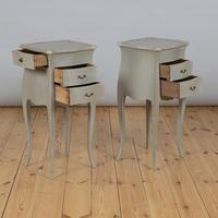 Pair of Large French Painted Bedside Cabinets (5 of 9)