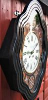 Wonderful 1880's French Striking Oval Vineyard Wall Clock by Japy Frères. (3 of 8)