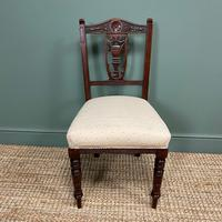 Set of Six Edwardian Walnut Antique Dining Chairs (4 of 8)