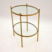 Vintage French Brass & Glass Side Table (10 of 10)
