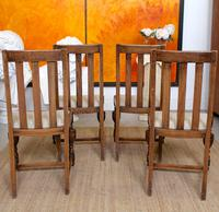 Oak Gateleg Dining Table & 4 Chairs Arts Crafts (3 of 17)