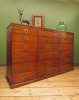 Substantial Antique Bank Of 18 Shop Drawers (20 of 25)