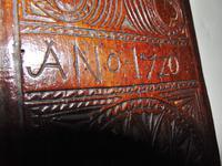 Carved Fruitwood Freizland Mangelplack, Dated 1720 (6 of 7)
