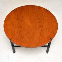 1960's Vintage Teak & Steel Coffee Table (5 of 8)