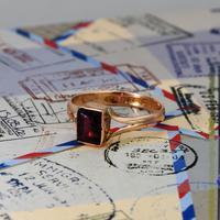 The Antique 1919 Rose Gold Garnet Ring (2 of 5)