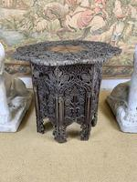 19th Century Indian Carved Occasional Table (6 of 7)