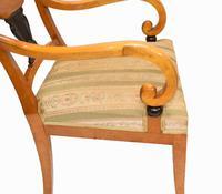 Pair of Biedermeier Armchairs Swedish Satin Birch Furniture c.1910 (7 of 10)