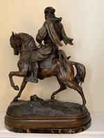 Large 19th Century French Patinated Spelter of 'Cavalier Arabe' (2 of 6)