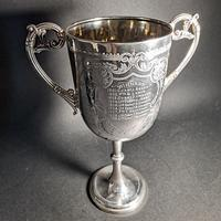 Victorian Silver Twin Handled Trophy (6 of 6)