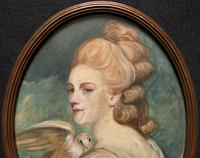 Mrs Mary Desbitt with Dove, After Sir Joshua Reynolds - Portrait Watercolour (5 of 9)